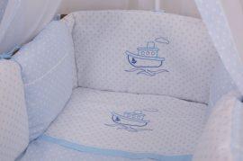 4 részes babaágynemű szett Premi kék - hajó
