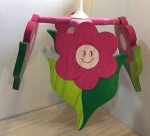 Virág csillár, pink, 4 elemes