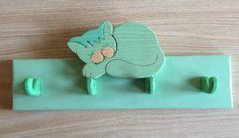 Cicás  4 akasztós fogas, zöld
