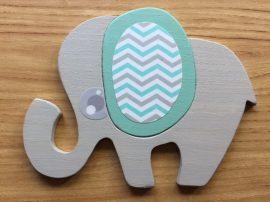 Elefánt türkiz bútordísz
