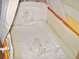 4 részes babaágynemű szett Bézs kockás -  Zoé zsiráf