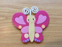 Pillangó pink bútordísz