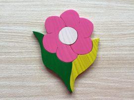 Virág pink bútordísz
