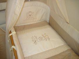 3 részes babaágynemű szett Csíkos pöttyös - szafari