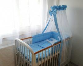 4 részes babaágynemű szett - kék Peti