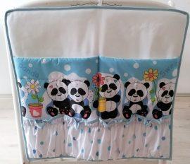 Zsebes tároló Édi panda - kék