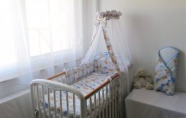 4 részes babaágynemű szett Mackótestvér - kék