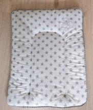 Pelenkázó lap Szürke csillagfüzéres maci